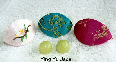 "Women's Wellness Sale- Pair Green Jade Ben Wa Kegel Balls-Undrilled, No Hole + Free Gift Silk ""Fortune Cookie"""