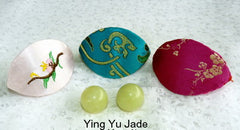 Women's Wellness Sale- Pair Green Jade Ben Wa Kegel Balls  Drilled with Hole + Silk Fortune Cookie