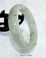 "Translucent Icy ""Butterfly Tracks"" Jadeite Bangle 57.5mm (BB2305)"