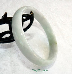 "Vintage Old Mine Jadeite ""Smokey"" Hues Jadeite Bangle 60mm (BB2628)"