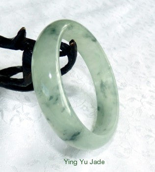 Luminous Translucent with Green Veins Burmese Jadeite Jade 56.5mm Bangle Bracelet (BB2655)
