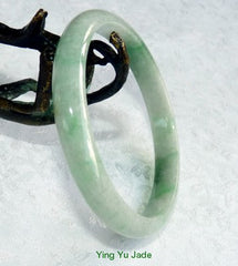 Imperial Green Veins Vintage Old Mine Lao Pit Burmese Jadeite Bangle 59mm (BB2662)