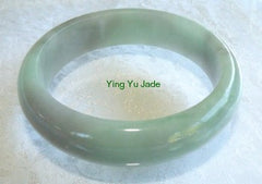 Green with Gray Hues Old Mine Jadeite Bangle Bracelet 58mm (BB2695)
