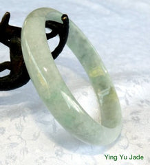 Tiny Imperial Green Veins Burmese Jadeite Jade Bangle Bracelet 60mm (BB2720)