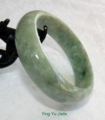 """Good Earth""  Varied Green ""Cuff Style"" Jadeite Bangle 57mm  Fits Like 55mm 56mm (BB2723)"
