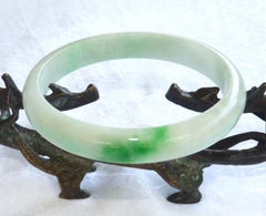 """Big Green Vein' Large / Mens Jadeite Jade Bangle Bracelet 73mm (BB2858"
