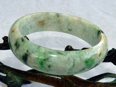 """Endlessly Interesting"" Varied Color Genuine Natural Burmese Jadeite Bangle Bracelet 57mm* (BB2861)"