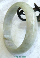 """Breath of Lavender"" Burmese Jadeite Jade Bangle Bracelet 62.5mm (BB2881)"