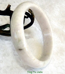 """Joy in My Heart"" Vintage Burmese Jadeite Jade Bangle Bracelet 58mm (BB2891)"