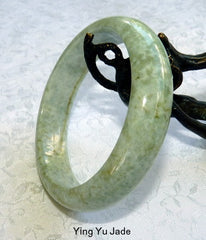 """Earth in Motion"" Old Mine Burmese Jadeite Jade Bangle Bracelet 57mm (BB2910)"