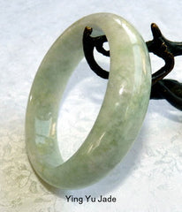 "Clearance-New Listing-""Calm Your Life"" Burmese Jadeite ""Old Mine"" Bangle Bracelet 57mm (BB2090)"