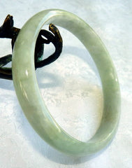 """Blissful Spirit"" Burmese Jadeite ""Old Mine"" Bangle Bracelet 66mm (BB2908)"