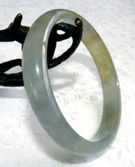 """Soothe Your Soul"" Elegant Rare Translucent Burmese Jadeite Bangle Bracelet 57.5 mm (BB2912)"