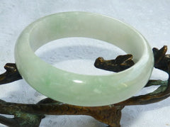 "Sale-""Calm Spirit"" Translucent Burmese Jadeite Bangle Bracelet 57.5mm (BB2917)"