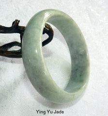 "Classic Traditional Burmese Jadeite ""Old Mine"" Bangle Bracelet Grade A 60mm (BB2926)"