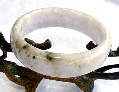 """Heavenly Night"" Burmese Jadeite Bangle Bracelet ""Old Mine"" Grade A 57 mm (BB2938)"
