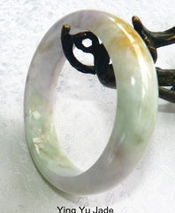 """Spiritual"" Burmese Jadeite ""Old Mine""  Bangle Bracelet Grade A   54.5 mm (BB2952)"