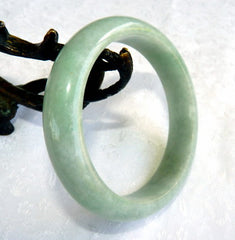 """Good Green All Around"" Old Mine Burmese Jadeite Bangle Bracelet 56.5 mm (BB2958)"