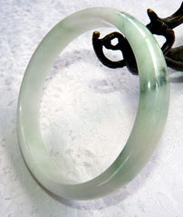 "Vintage ""Old Mine"" Burmese Jadeite Large Bangle Bracelet 75 mm (BB2966)"