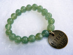 """Follow Your Path"" Jade Bead Mala Bracelet with Philosophy Inspiration ""ALTERED"" Wear Your Intention Word"