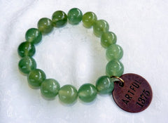 """Follow Your Path""Jade  Bead Mala Bracelet with Philosophy Inspiration ""ARTFUL"" Wear Your Intention Word"