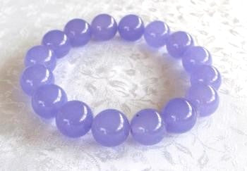 "Clearance- Lovely Lavender Chinese Jade Bead Bracelet-""Healing"""