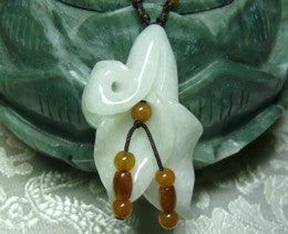 Lovely Lily Jadeite Pendant Necklace