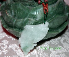 """Abundance"" Lucky Burmese Jadeite Fish Necklace (BJNECK20)"