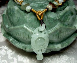 """Balancing"" Unique Rolling Ball Jadeite Necklace (BJNECK-23)"
