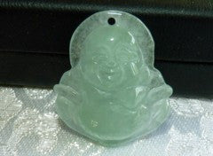 "Vintage Buddha Blessings ""Old Mine"" Burmese  Jadeite Pendant (BJP3)"