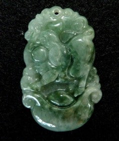 """Nice Pig Brings Friendship"" Jadeite Pendant"