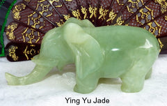 """Wise Elephant Protects"" Rare Old Chinese Jade Elephant Carving"