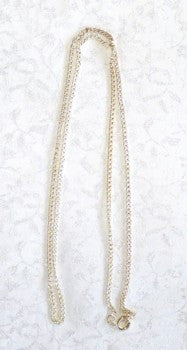Silver Chain for Pendants  wtih Bails 16""
