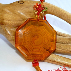 """Daoist Bagua"" Citrine Crystal Hanging Ornament (CP-231)"