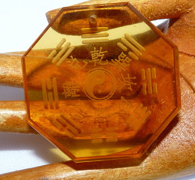 """Dao Bagua"" Symbol Chinese Citrine Crystal Pendant (CP-232)"