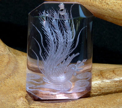 """Blessed Phoenix"" Lavender Chinese Crystal Pendant (CP-250)"