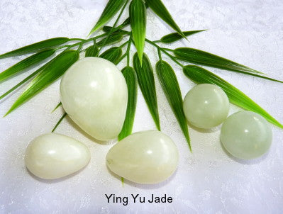 "Womens Wellness Sale - Genuine Natural Chinese Jade ""Yoni"" Eggs Set and Pair Ben Wa Balls-Undrilled"