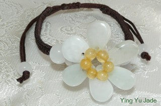 "Today's Special-""Mei"" Beautiful Flower Jadeite Bracelet FJB55)"