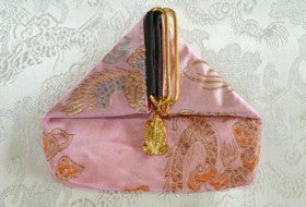 "Chinese Silk ""Frog"" Pouch-Pink"