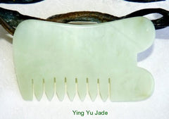 Jade Gua Sha Tool with Comb for Scalp and Hair  #10