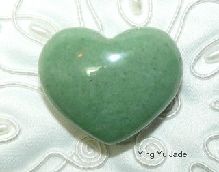 "Sweet Small Jade ""3-D"" Heart"