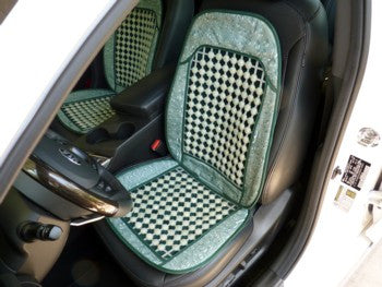 Deal of the Day-Jade Bead  Car Seat Padded Cover Cushion  - Set of 2 - Ying Yu Jade Exclusive and One Set Only