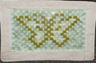 Chinese Jade Pillow Cover-Butterfly Large Flat Jade Beads