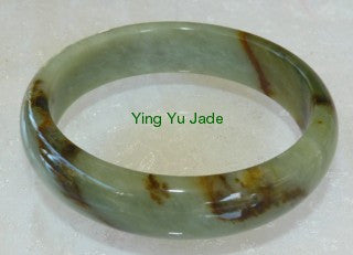 """Heavenly Honey"" Fabulous Chinese River Jade Bangle Bracelet 62mm (NJ2353)"
