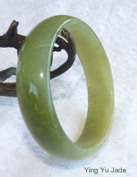 Small Natural Green Chinese River Jade Bangle Bracelet 54.5mm (NJ2363)