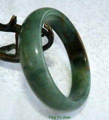 """Touch of Heaven"" Chinese ""River Jade"" Bangle Bracelet 60mm (NJ2567)"