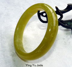 """Huang"" Chinese Jade Bangle Bracelet 66mm (NJ2574)"