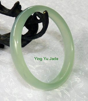 "1""Modern"" Genuine Natural Chinese Jade Bangle Bracelet 53mm (NJ555-53)"