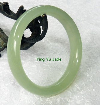 """Large/Men's ""Modern"" Chinese Jade Bangle 70mm (NJ555-70)"