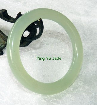 Classic Traditional Round Chinese Jade Bangle Bracelet 56mm (NJ888-56)
